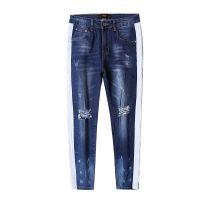 DX-02 Mens slim fit fashion ripped denim jeans