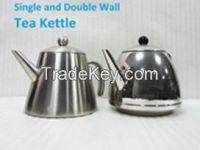stailess steel double wall water kettle tea pot