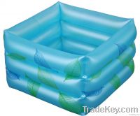 Inflatable foot bath