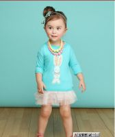 Baby girl spring&autumn clothing sets kids hoodies and veil tank dress in stock