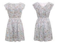 Girl's evening Dress lady's summer flower printing dress Women's cotton grace style skirts