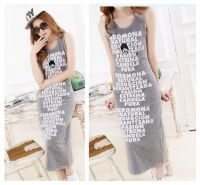 Ladies summer sleeveless cotton dress women fashion dress in stock