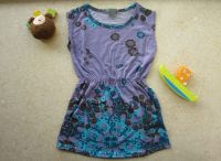 Children stock wholesale baby girl's cotton floral dress skirts