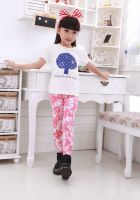 kid's girl trousers child summer leggings