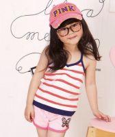 Baby girl's stripe tank top kids summer clothing