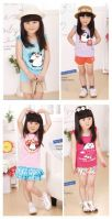 Children girl cotton T-shirts kids tank top
