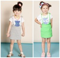 Girl's braces skirts baby girl suspender skirts