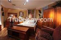 European Style Solid Wood King Bed / Bedroom Furniture / All Made of 100% Nz Pine / Real Furniture Factory