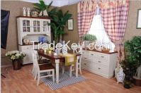 Dining Room Furniture Solid Wood Cupboard Dining Table Chair Set Furniture Factory