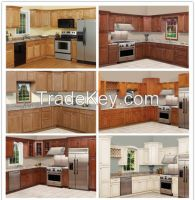 Solid wood kitchen cabinet China manufacturer 100% true factory