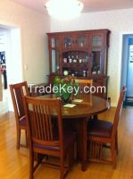 High Grade Dining Table Made of High Quality American Red Oak Table / American Style Dining Room Furniture