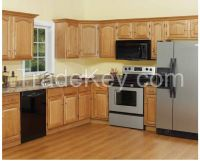 China Manufacturer of American Style Wooden Kitchen Cabinet Factory