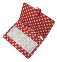 7 inches tablet keyboard with dot design leather case