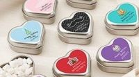 """New arrival """"Mint For You"""" Brushed-Metal Heart-Shaped Mint Tin - Birthday"""