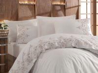 Cotton Satin King Size Duvet Cover Set - Blanche