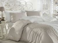 Cotton Satin King Size Duvet Cover Set - Elegance