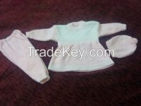 Baby girl sweater suit