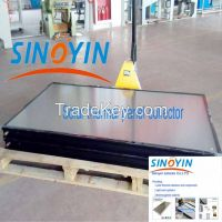 solar thermal collector of black frame