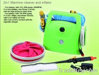 car cleaner and inflator 2 in 1 machine