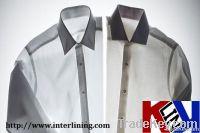 Super White Coated Collar Interlining For garment 100% Cotton--KLC251