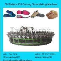 60 Stations PU Pouring Shoe Making Machine  PU Pouring Sole Making Machine