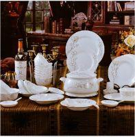fashion bone porcelain dinnerware sets with flora pattern