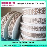 Various style and color pp polyester binding webbing for mattress