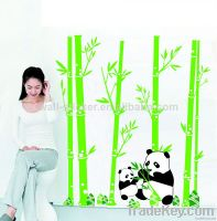 Hot sale vinyl bamboo wall sticker for home decor