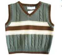 Children's Cotton V-Neck Sweater Vest