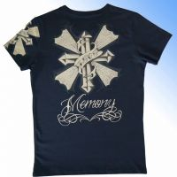 Men's short sleeve round neck t-shirt with customized printing