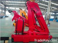 5 tons small hydraulic  folding boom truck crane