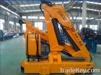 6.3 tons small hydraulic folding boom truck crane