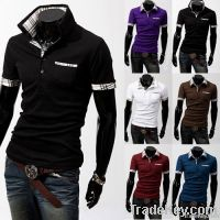 Summer men's best-selling fashion polo shirts with short sleeves