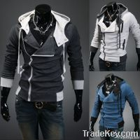 Men hooded cardigan cultivate one's morality men's fleece coat