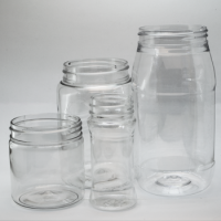 PET bottles and jars (5 to 250 ml)