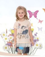 Baby Girl's Embroidery T-shirt (100% cotton)