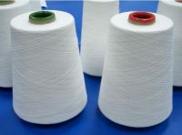 raw white 100% polyester sewing thread