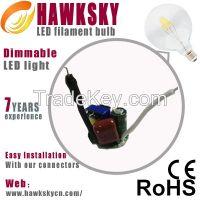 30000-50000H new led filament lamp 400lm LED filament lamp