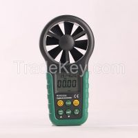 3 in 1 digital anemometer MS6252B with USB, wind velocity, humidity, temperature test at low price