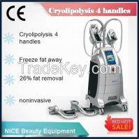 Non-Invasive Kryolipolyse Machine/Cryolipolyse 4 Handles Cryolipolyse