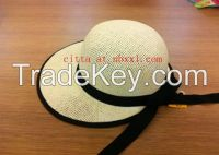 56a90b8b193b3 VG-WV009Women s Visor straw hat in heather effect metal chain twisted