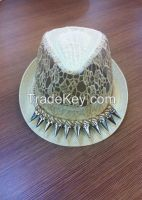 VG-MF001White Fedora Hat, Made of Paper Straw, One Size Fits All, Ideal
