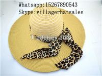 VG-WB001Straw Women's Big Brim made of Paper String handcraft, local wo
