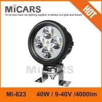5 inch 40w 4000lm LED work light for SUV ATV trucks off road