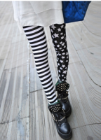 Stripe Star Print Slimming High Elasticity Leggings For Women