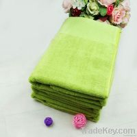 Bright colored towel for hotel use