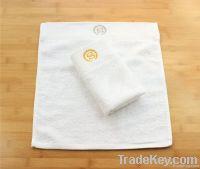 White 100%Cotton Hotel Face Towel