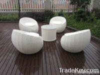 Comfortable Outdoor Rattan Furniture Sofa Chair Set For Garden