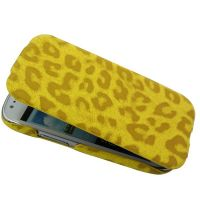 Mobile phone PU leather case leg stand for Samsung Galaxy S4