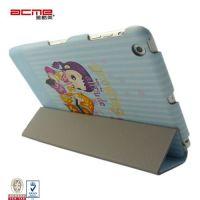 Stylish print PU leather flip folio case cover for iPad 5, 360 rotation fold stand,